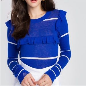 Wildfox Sweaters - Wildfox Yacht Strips Cashmere Cloud Sweater